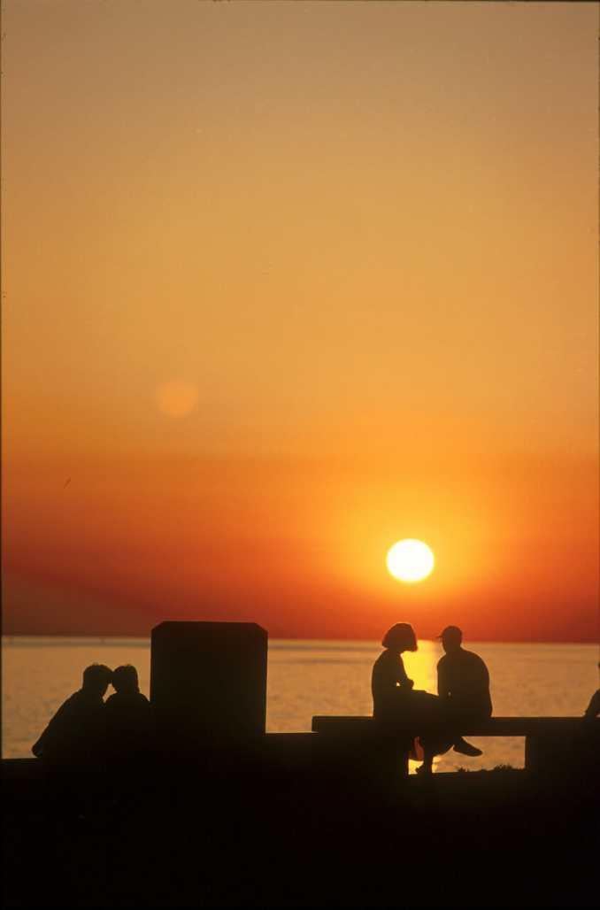 Uruguay, Puesta de sol, Parque Rodo