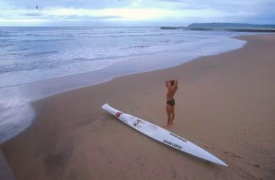 Sudáfrica, Natal, Durban, playa Golden Mile, Kayak