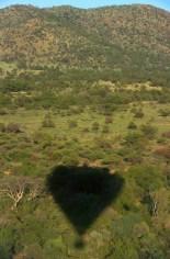 Sudáfrica, Bophuthatswana, parque Pilanesberg, vuelo en globo