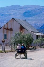 Sudáfrica, Karoo, De Rust, calle del pueblo