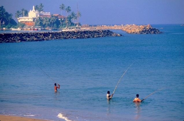 Sri Lanka, bahía de Beruwala, pescadores