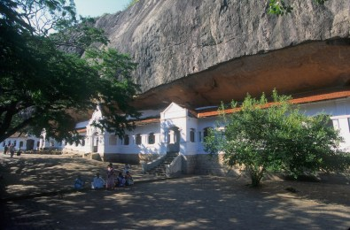 Sri Lanka, Danbulla, esplanada del templo