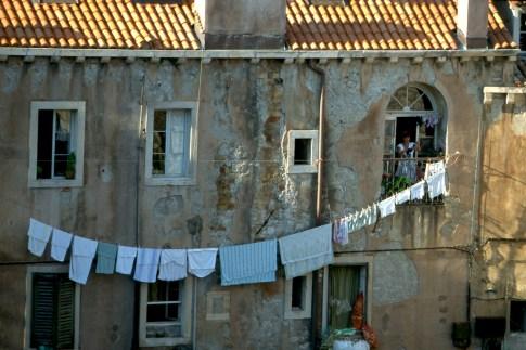 Croacia, Dubrovnik, tendedero de ropa