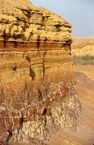 Israel, desierto del Negev, crater Ramon, Estratificación