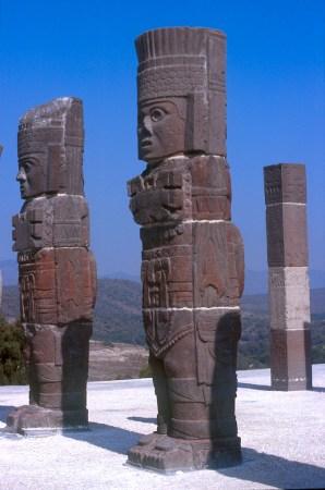 México, Tula, Ciudad Tolteca, escultura