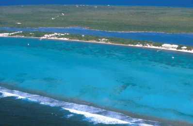 Islas Cayman, Little Cayman, South Hole Sound, vista isla Owen
