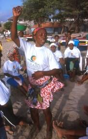 Cabo Verde, Isla Santiago, Tarrafal, Batucada, bailarina, retrato