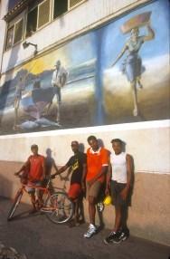 Cabo Verde, Isla San Vicente, Mindelo, pintura mural, retrato