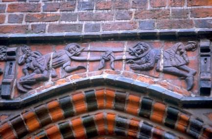 Alemania, Baja Sajonia, Hannover, antiguo Ayuntamiento, bajo relieve