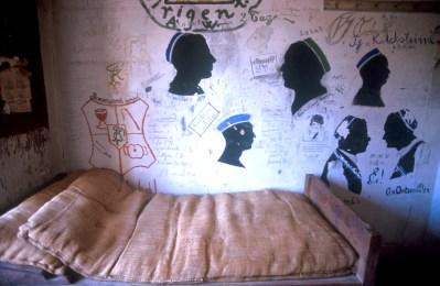 Alemania, Baja Sajonia, Göttingen, museo cárcel de estudiante en la Universidad, mural, graffiti