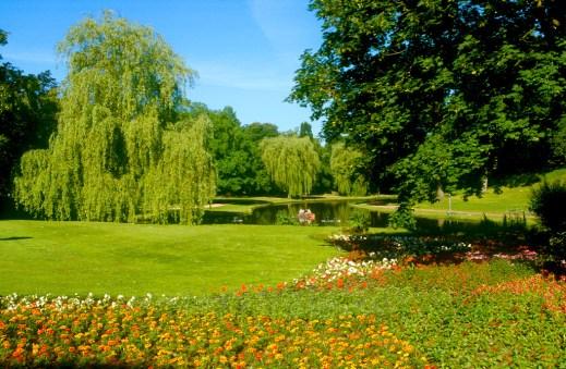 Alemania, Baja Sajonia, Celle, jardines del castillo