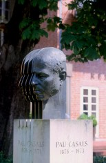 Alemania, Baja Sajonia, Wolfenbüttel, Busto de Pau Casals, escultura