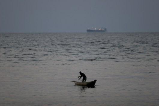 Camerún, Kribi, pescador
