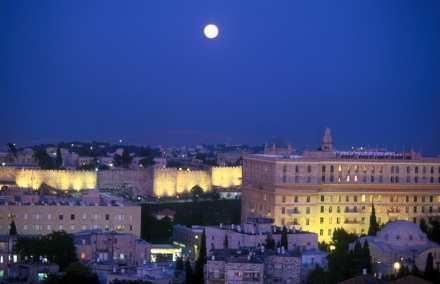 Israel, Jerusalén, nocturno
