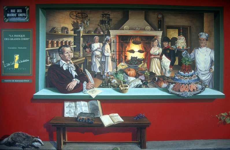 Lyon,Pintura Mural, Boccuse, Obra de Cite de La Creation