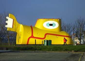 Reino Unido, Liverpool, Merseyside, Yellow Submarine