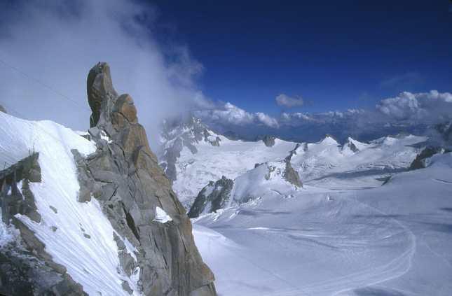 Alta Saboya, Chamonix, Mont Blanc, Macizo del Mont Blanc, Aiguille Du Mid