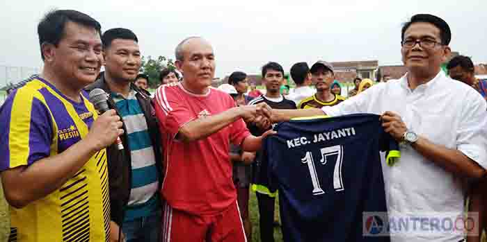 LSM Geram Banten Ikut Resmikan Stadion Mini Kecamatan Jayanti
