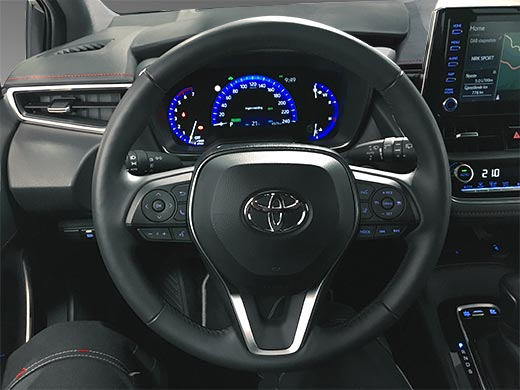 Car photo interior after retouching