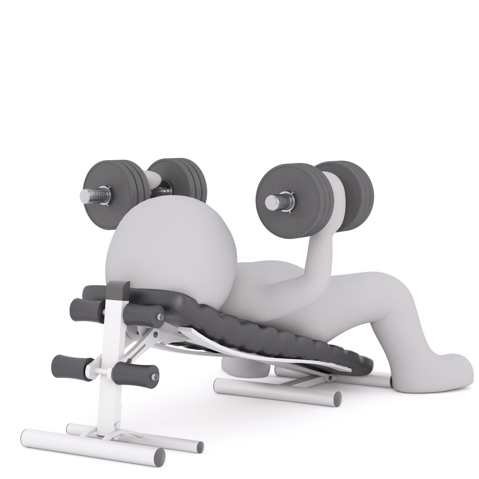 Bonhomme Blanc 3d Sport Musculation Images Gratuites