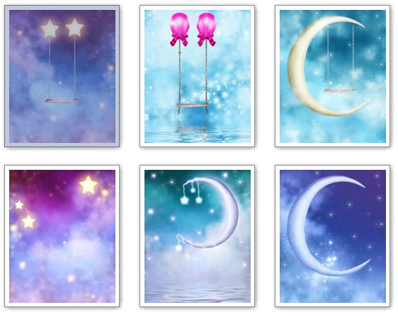 Fondos de la Luna y las Estrellas en alta calidad