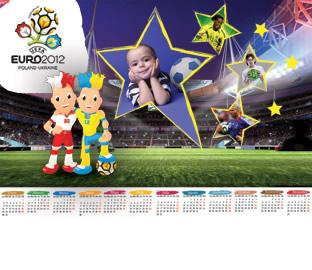Fotomontaje para Fotos Calendario Eurocopa 2012