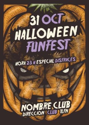 Cartel Halloween. Calabaza Terrorífica