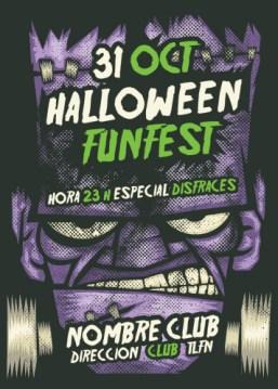 Tarjeta Halloween Monstruo Frankenstein
