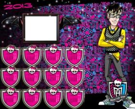Calendarios 2013 Monster High Jackson