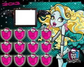 Calendarios 2013 Monster High Lagoona