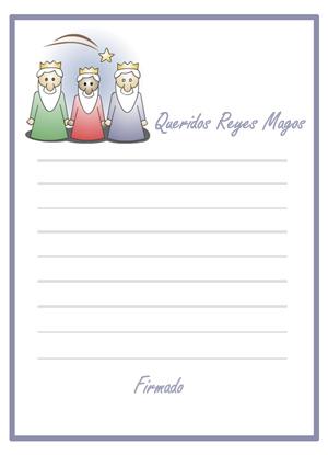 Carta Reyes Magos. Fotomontajes para Navidad