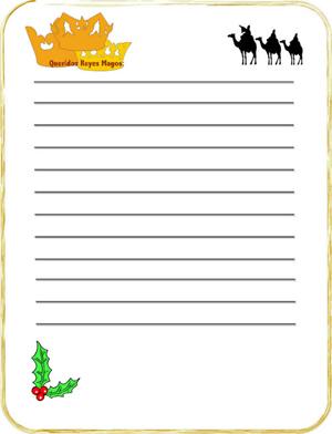 Fotomontaje Navidad. Carta para Reyes Magos