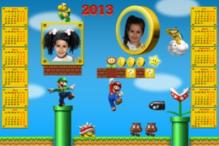 Calendarios Infantiles 2013. New Super Mario Bross