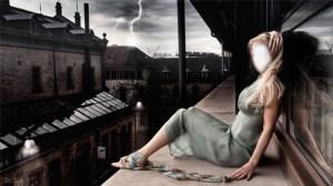 Fotomontaje Chica Misteriosa