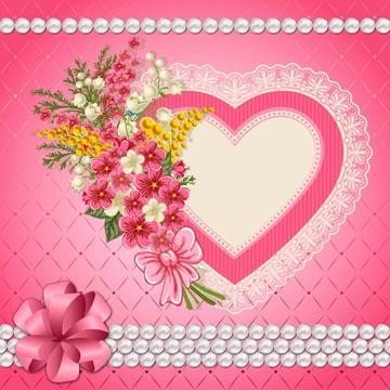 Tarjeta de San Valentín Romántica.