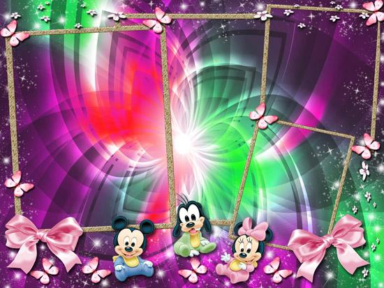 Marcos Baby Disney. Fotomontajes Infantiles.