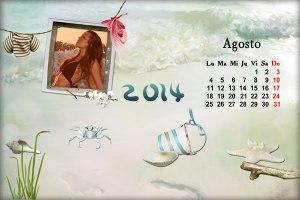 Calendario 2014 Mes Agosto