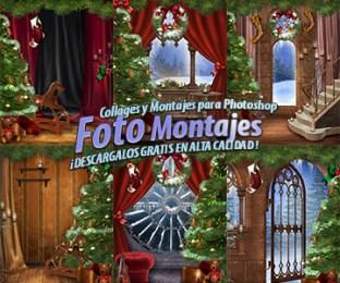 Fondos para Fotomontajes de Navidad.