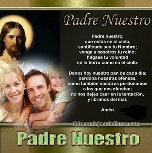 fotomontajes cristianos con el padre nuestro