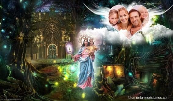 fotomontajes cristianos de la virgen maria