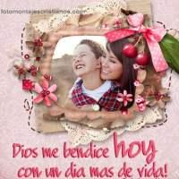 Fotomontajes cristianos con frases: Dios me bendice