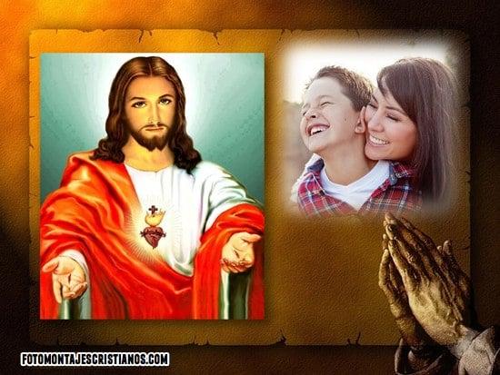 fotomontajes con el sagrado corazon de jesus