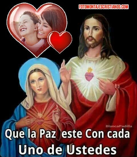 fotomontajes con jesus y la virgen maria