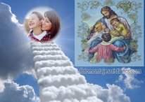Fotomontaje cristiano con imagen religiosa