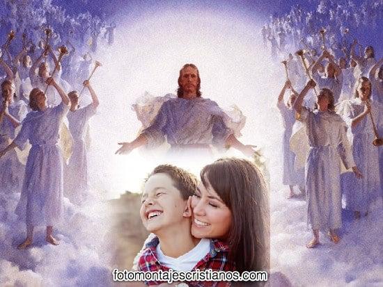 fotomontajes de jesus con angeles