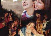 Fotomontaje de Navidad nacimiento del niño Jesús