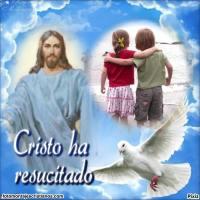 Fotomontaje de Pascua: Cristo ha resucitado