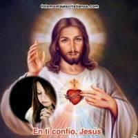 """Fotomontajes con Jesús y frase """"En ti confío, Jesús"""""""