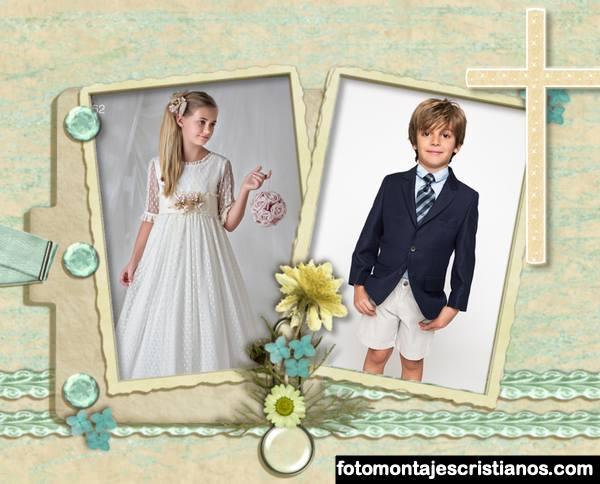 Fotomontajes para mi primera comunion