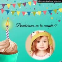 Fotomontajes cristianos de cumpleaños con bendiciones
